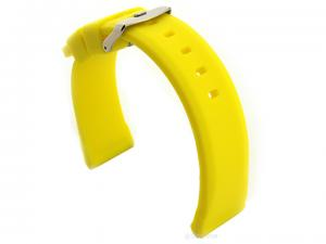 Silicone Watch Band SN Waterproof Yellow 24mm