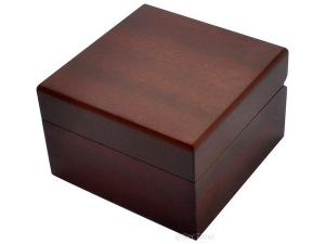 Classic Wooden Watch Box for 1 Wristwatch with Veluor Cushion - Brown