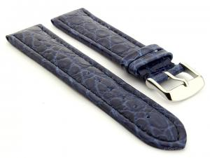 Leather Watch Strap African Blue 18mm