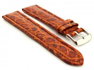 Leather Watch Strap African Brown 22mm