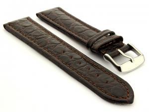 Leather Watch Strap African Dark Brown 20mm