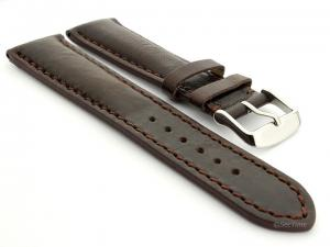 Leather Watch Strap fits Breitling Dark Brown / Brown 18mm
