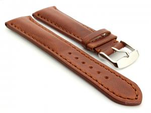 Leather Watch Strap fits Breitling Rudy Brown / Brown 24mm