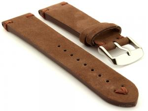 Suede Leather Retro Style Watch Strap Blacksmith Plus Cocoa 20mm