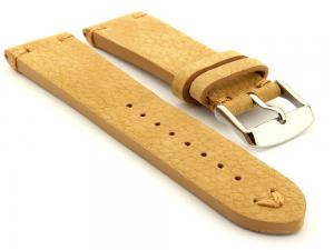 Suede Leather Retro Style Watch Strap Blacksmith Plus Light Brown 22mm