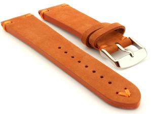 Suede Leather Retro Style Watch Strap Blacksmith Plus Orange 24mm