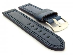 Panerai Style Waterproof Leather Watch Strap Blue Constantine 02 02