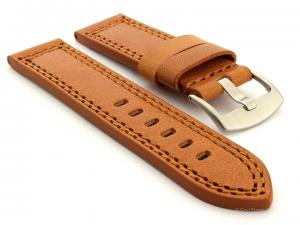 Panerai Style Waterpoof Leather Watch Strap CONSTANTINE Brown 22mm