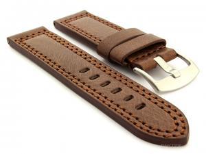Panerai Style Waterpoof Leather Watch Strap CONSTANTINE Dark Brown 20mm