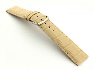 Leather Watch Strap Croco Louisiana Cream 18mm