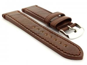 Leather Watch Strap Grand Catalonia Dark Brown 18mm