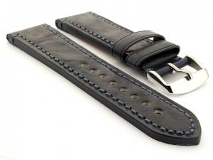 Leather Watch Strap Grand Catalonia Navy Blue 18mm