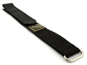 Hook & Loop Watch Strap Sport, Nylon Black 16mm