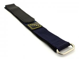 Velcros Watch Strap Sport, Nylon Blue 20mm