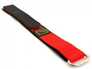 Hook & Loop Watch Strap Sport, Nylon Orange 20mm