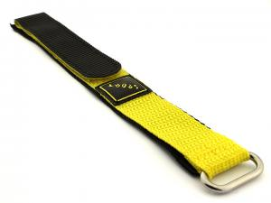 Hook & Loop Watch Strap Sport, Nylon Yellow 20mm
