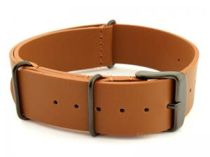 Leather Nato Strap PVD Brown 01