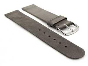 Suede Genuine Leather Watch Strap Malaga Coyote Grey 01