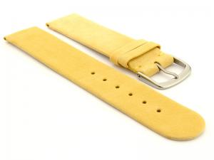 Suede Genuine Leather Watch Strap Malaga Yellow 18mm