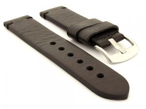Leather Watch Strap Maracana Black 26mm