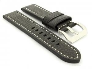 Leather Watch Strap Marina Black 26mm