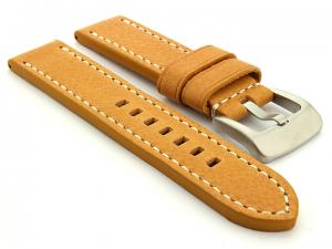 Leather Watch Strap Marina Brown (Tan) 20mm
