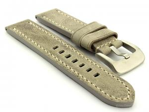 Leather Watch Strap Marina fits Panerai 24mm Grey