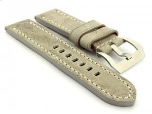 Leather Watch Strap Marina Grey 26mm