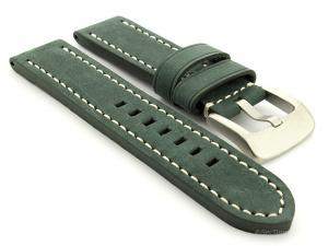 Leather Watch Strap Marina Matte Green 20mm