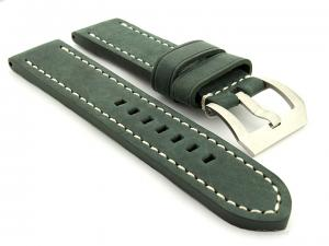 Leather Watch Strap Marina Matte Green 26mm