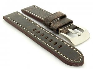 Leather Watch Strap Marina Retro Brown 20mm