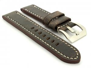 Leather Watch Strap Marina Retro Brown 26mm