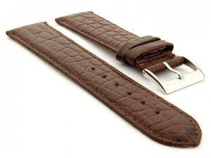 Genuine Crocodile Leather Watch Strap Miami CM Dark Brown 02