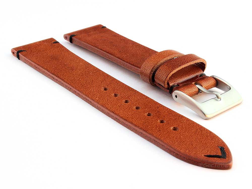 Genuine Leather Watch Strap Band Mirage Brown/Black 24mm