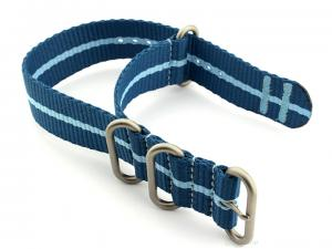 Nato Watch Strap CS Blue/L.Blue 22mm