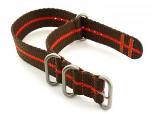 Nato Watch Strap CS Brown/Orange 22mm