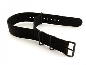 Nato G10 Nylon Watch Strap PVD Buckle Black 20mm