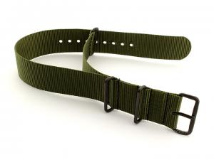 Nato G10 Nylon Watch Strap PVD Buckle Olive Green 20mm