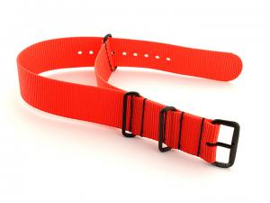 Nato G10 Nylon Watch Strap PVD Buckle Orange 24mm