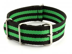 Nato Watch Strap Nylon G10 Black/Green (5) 02