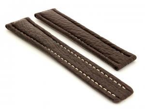 Shark Skin Watch Strap for Breitling Dark Brown 01