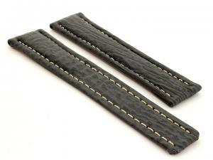Shark Skin Watch Strap for Breitling Grey 20mm/18mm