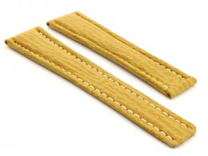 Shark Skin Watch Strap for Breitling Yellow 20mm/18mm