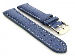 Shark Leather Watch Strap VIP Blue 24mm