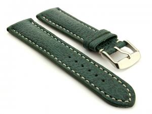 Shark Leather Watch Strap VIP Green 22mm
