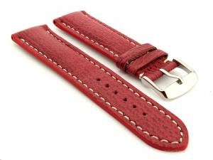 Shark Leather Watch Strap VIP Red 22mm