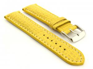 Shark Leather Watch Strap Yellow VIP 02