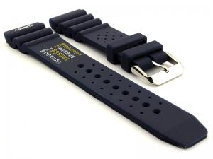Silicone Rubber Watch Strap Band PRO Waterproof N.D.LIMITS Blue 24mm