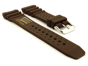 Citizen / Seiko Silicone Rubber Watch Strap Pro Waterproof Brown-N.D.LIMITS 03