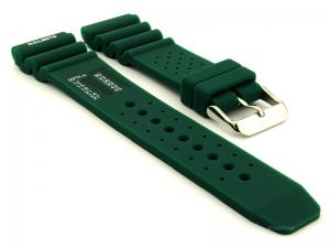 Citizen / Seiko Silicone Rubber Watch Strap Pro Waterproof Green 03